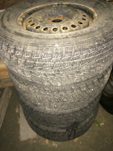 Winter Tires with Rims 235/70/16