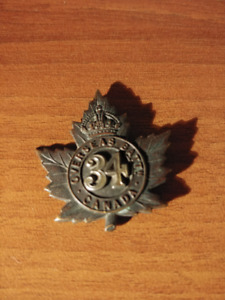 World War I Badge - Canadian 34th Battalion