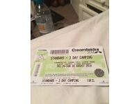 Creamfields Ticket 2016 Standard 3 Day Camping