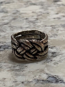 Womens Braided Knot Ring