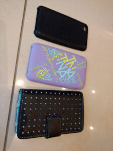 iPod Touch 3 Cases - Purple TNA, Black & Blue + Black Silicone