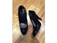 BALLY ZAHARRA Black Shoes 38EUR Round Toes High Heels Patent Leather