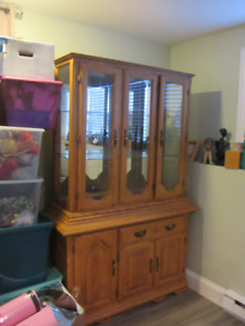 Solid  Oak China Cabinet for sale  $250 obo