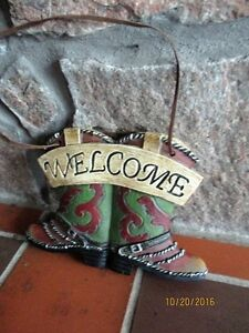 Cowboy Boots Welcome Sign - NEW