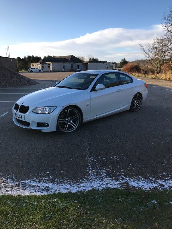 mineral white bmw 335d m sport e92 coupe 2011 70k in. Black Bedroom Furniture Sets. Home Design Ideas