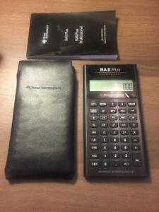 CFA exam, Texas BA II Plus Professional calculator