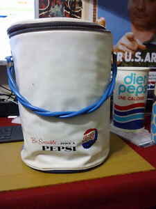 Round soft sided Pepsi Cooler from 1950