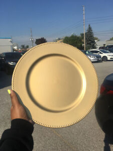 Gold, Silver or Black Charger Plates - FOR RENT OR SALE