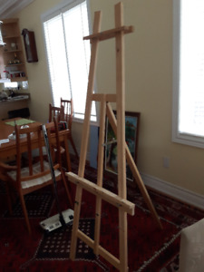 Artist's full size wooden easel - stand up easel