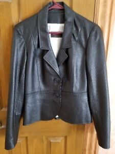 Woman's Black Leather Jacket by Sandy Leather Fashions, NEW