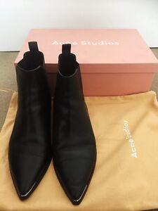 Acne studios Jensen leather boots Melbourne Region Preview
