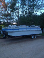 24' pontoon boat & trailer