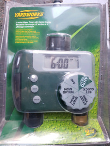 2 outlet water timer - programmable