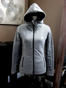 ladies small Gray Bench reversible parka