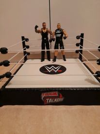 ⭐Hard to find⭐ WWE interactive wrestling ring and wrestlers £30