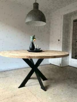 foto de ≥ Vind ronde eettafel 130 cm   Zo goed als nieuw op Marktplaats.nl