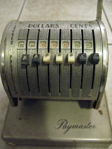 Vintage Paymaster Check Writer Canadian Edition X-550 with Key