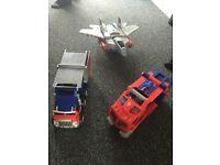 Transformer vehicles/Guns.
