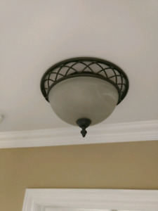Ceiling mount light.