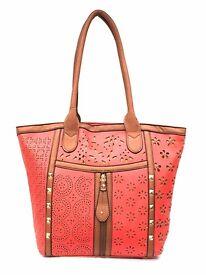 Womens Ladies Fashion Celebrity Look Tote Bag Large Handbag - New