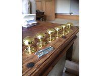 3 Pairs Brass Mortice Door Knobs