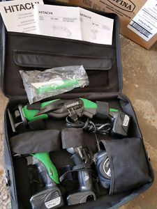 Hitachi drill and saw combo with light