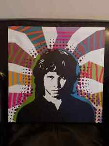 The Doors Jim Morrison canvas type photo