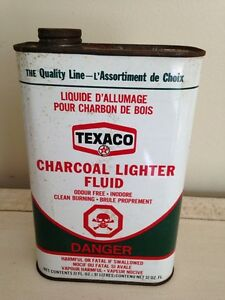 Vintage Texaco charcoal, motor oil tin can gas pump sign