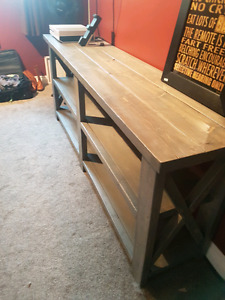 Need sold  - handmade Rustic console table