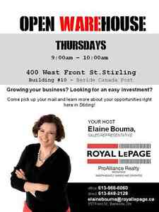 Open WAREhouse 9:00am - 10:00am Thursdays in Stirling, ON