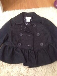 3-6 month girl lot -outfits, onesies, jean jacket