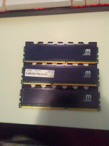 3 x 4GB Mushkin Blackline DDR3 RAM Memory (12GB TOTAL)