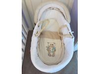 Mothercare baby/Moses basket with stand/ rocker in excellent condition
