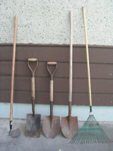 Various garden and lawn tools