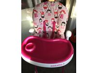 Cosatto pink high chair