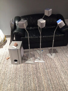 JVC subwoofer and 4 speakers