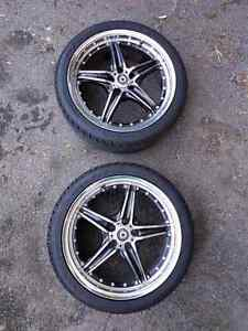 """4 Konig rims 17"""" 5x100 with new tires NEGO"""