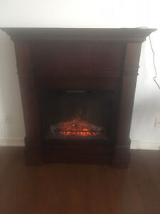 Real Flame Electric Fireplace in Walnut/Espresso