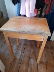 Old Oak School Desk for Upcycling