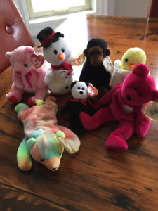 Beanie Babies - Valentina, Sammy, Twilight, Snowball, etc