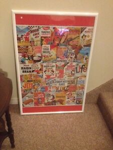 KELLOGGS FRAMED PICTURE(CEREAL BOXES PUZZLES)/COLLECTIBLES