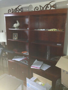 Cherry Wood Wall Unit