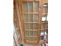 6 solid wood doors - free to collect (poor condition)