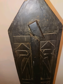 Quirky handcarved tribal wooden cabinet cupboard upcyclin project?