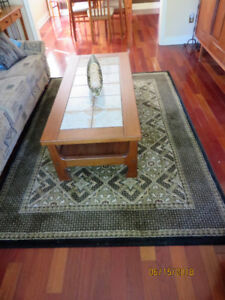 AREA RUG AND MATCHING RUNNER
