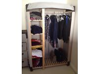 Canvas wardrobe and chest