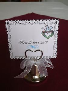 Clochettes/Porte-cartes pour mariage