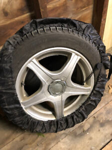 2 NEW MICHELIN X-ICE WINTER + 2 SUMMER TIRES (all on rims)