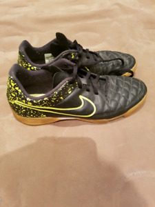 Nike Tempo Indoor soccer shoes.
