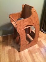 Hutterite built multi-use high chair